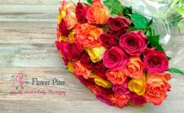 Букеты из 21, 25, 51 или 101 розы