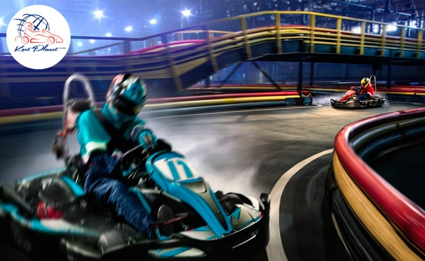 Скидка на Заезды на картах в будни или выходные в крытом картинг-клубе Kart Planet со скидкой до 72%